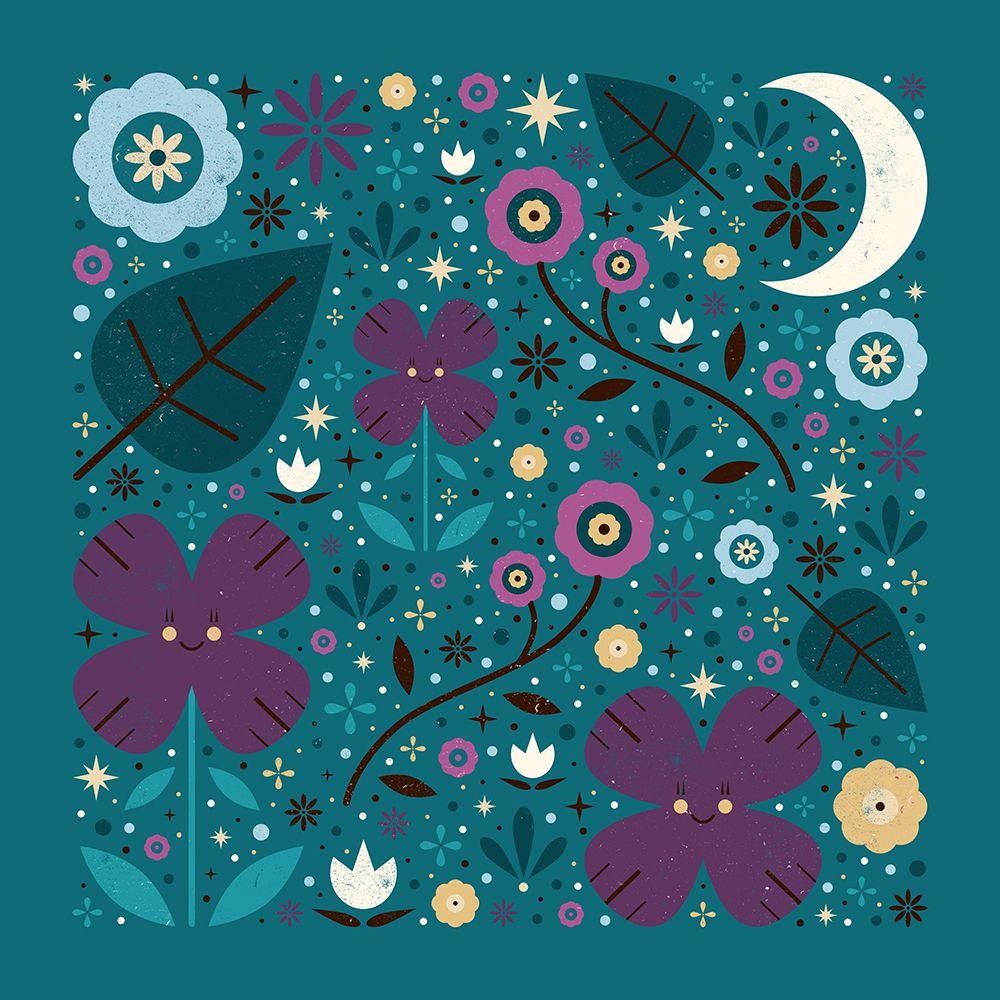 Carly Watts Art & Illustration: Shy Little Violets