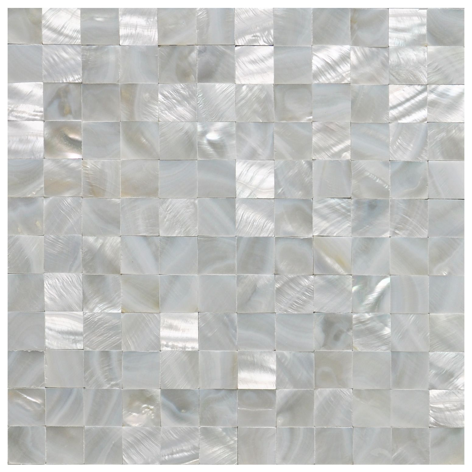 Mother Of Pearl Shell White Square Seamless Mosaic Tile 12 X12 Shell Tiles Handcrafted Wall Art Tile Mesh
