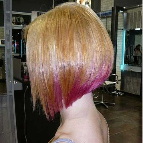 I Love The Short Hair With The Color Underneath Angled Bob