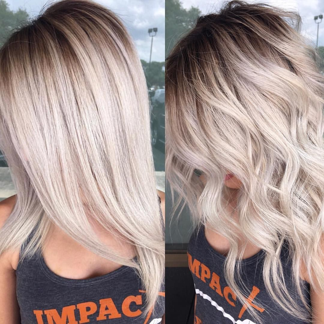 Straight Or Wavy Texasbalayage With Images Blonde Hair With