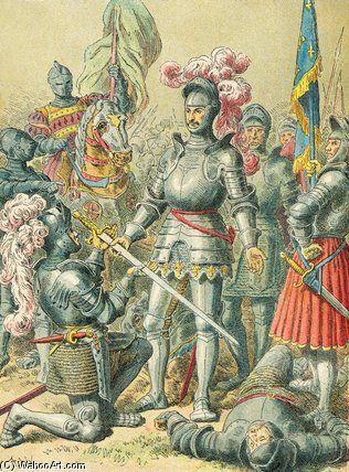 Le roi François Ier à la bataille de Pavia | Frederic Theodore Lix (1830-1897, France)