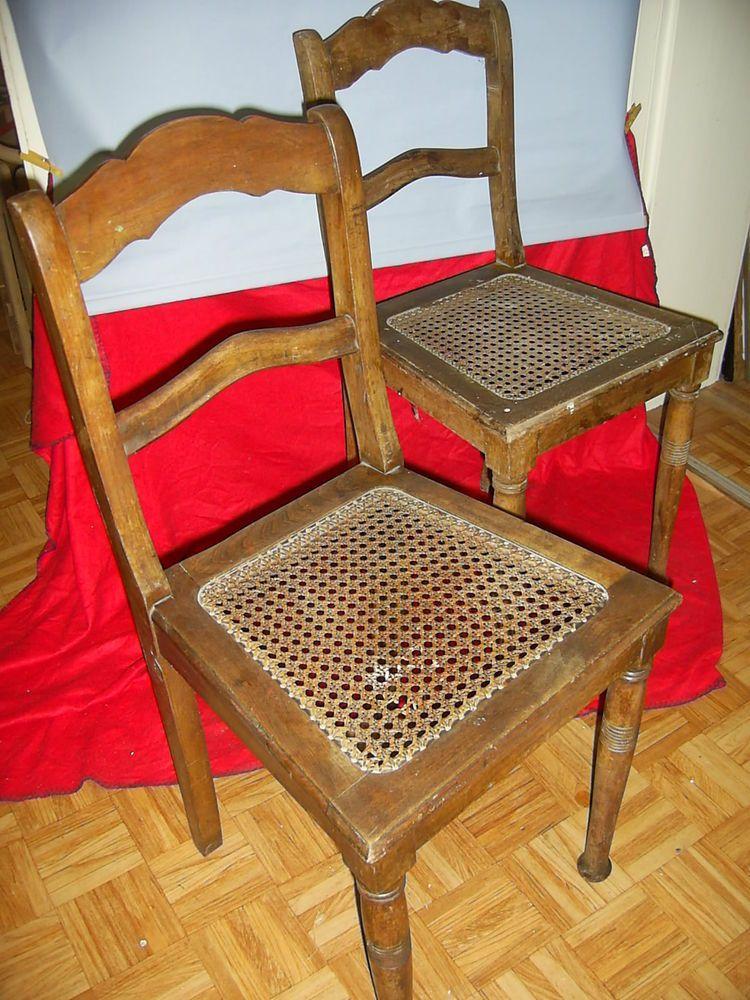 2 Antike Stühle Mit Geflecht Holzstühle Möbel Dekoration