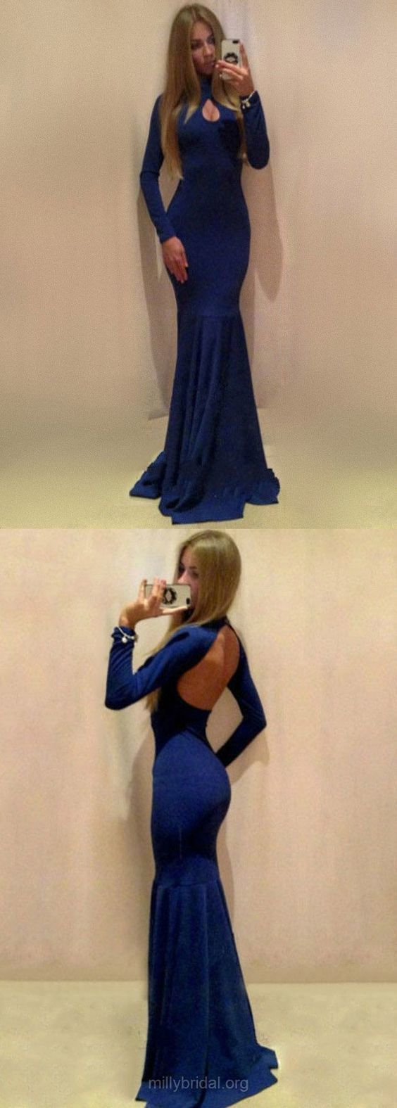Blue prom dresses long prom dresses long sleeve prom dresses for