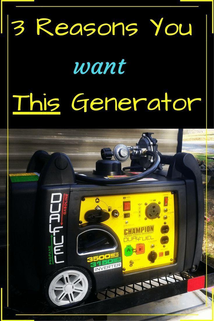 Champion 3500 Watt Dual Fuel Inverter RV Generator