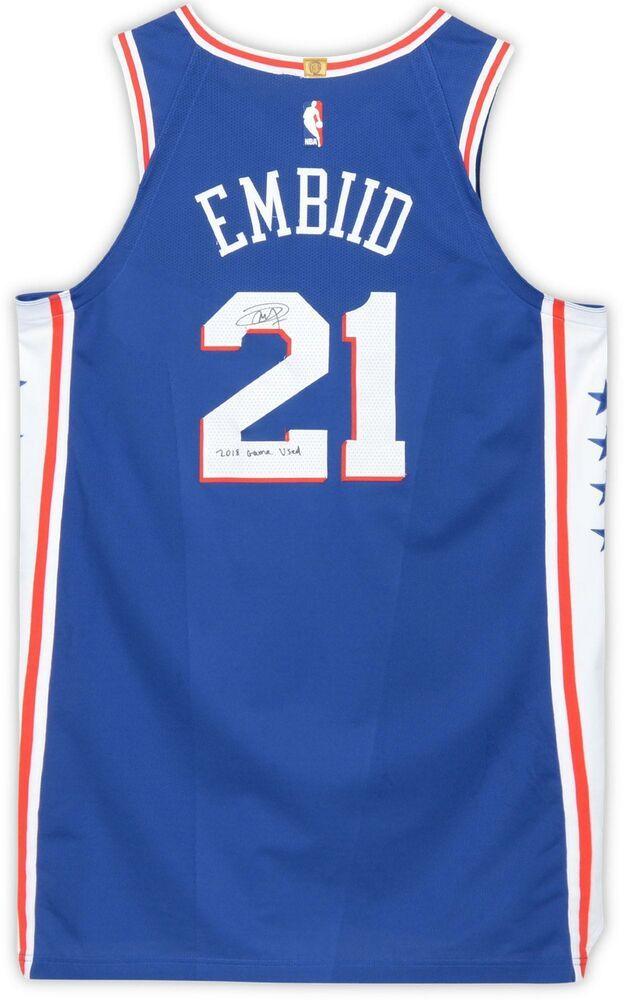 Autographed Joel Embiid 76ers Jersey Fanatics Authentic COA Item 9247393   sportsmemorabilia  autograph   14b7d3c85