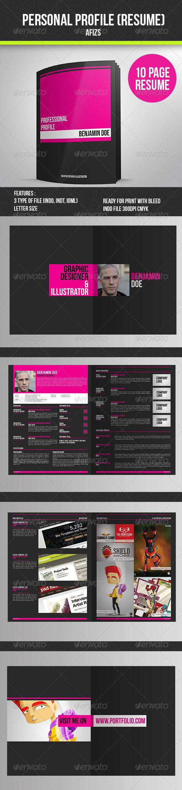 Personal Profile (Resume) GraphicRiver Stay Update and