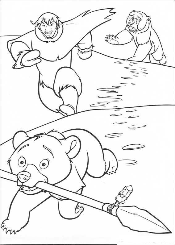 kleurplaat Brother Bear - Koda steelt speer | Coloring | Pinterest ...