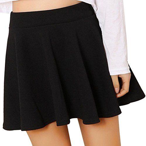 OHQ Mme Pure Anti-Amorphous A Jupe Courte Noir Rouge Blanc Femmes Lady  Taille Haute d83466e6ba2e