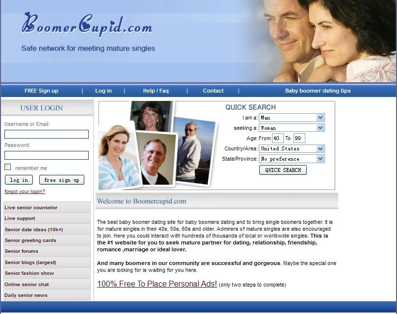100 free dating site for over 50s