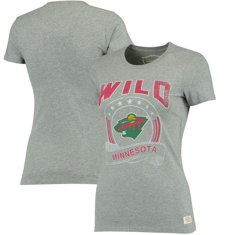 los angeles 52b0d 2b0de Minnesota Wild Mitchell & Ness Women's Crew Neck T-Shirt ...