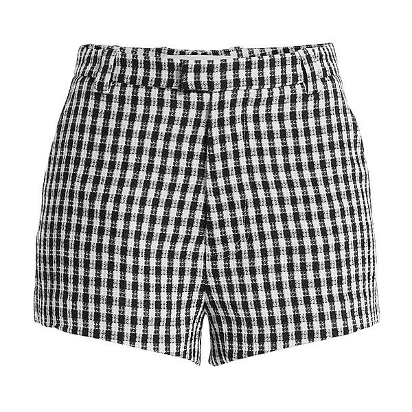 Sandy Liang High Waisted Print Shorts ($320) ❤ liked on Polyvore featuring shorts, highwaist shorts, high-waisted shorts, black and white shorts, slim shorts and gingham shorts