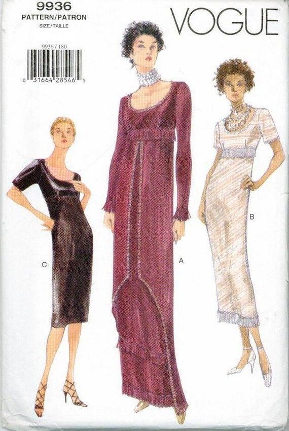 Titanic Rose Swim Dress Jump Sewing Pattern Vogue 9936 Out of Print ...