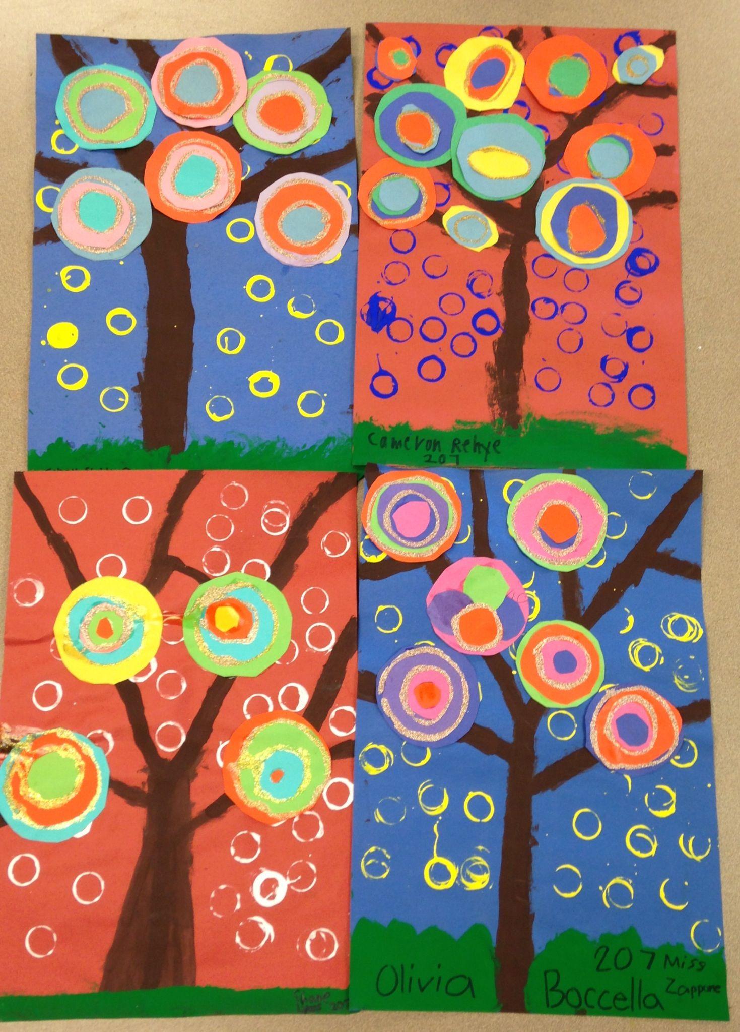 Kandinsky Trees arts and crafts Kandinsky for kids