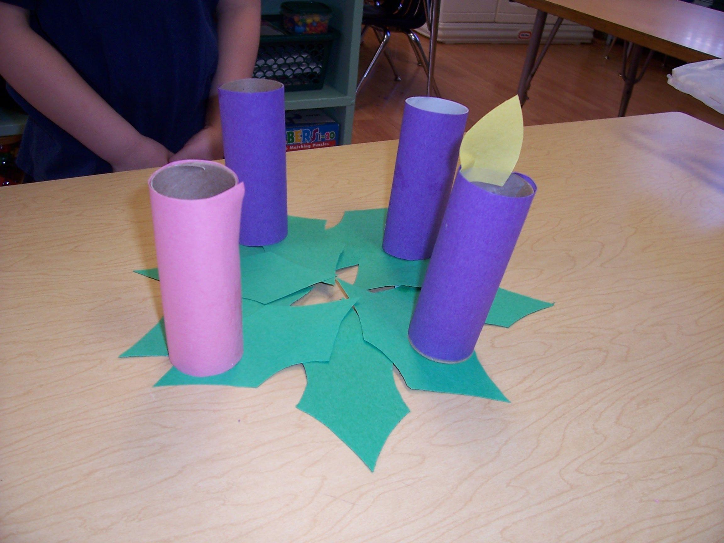 Kindergarten Class Advent Wreath