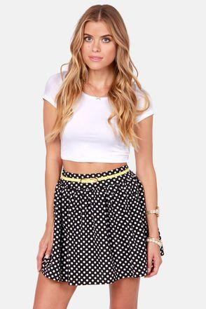 Elementary, My Dear Spot-son Black Polka Dot Skirt