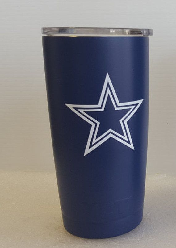 YETI Fathers Day Gift Dallas Cowboys 20oz. Yeti RAMBLER wrapped with 3M  vinyl PERSONALIZED decal 013e9e352
