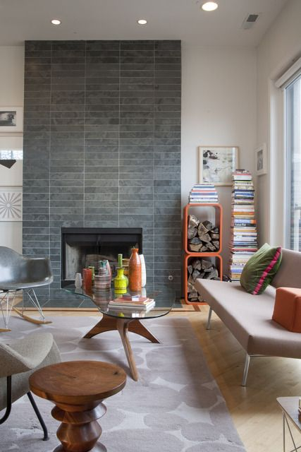 Apartment Therapy Modern Fireplace Home Fireplace Remodel