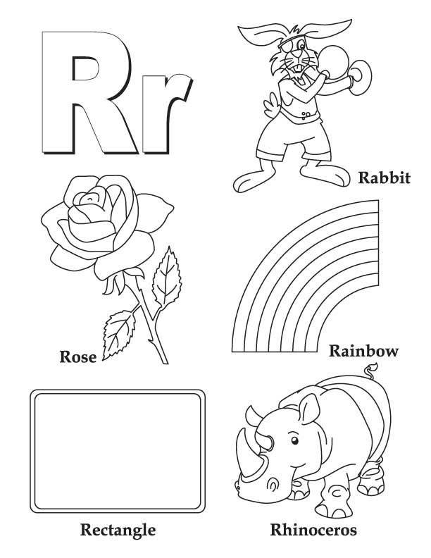 Alphabet Letter R coloring page #Alphabet #LetterR #