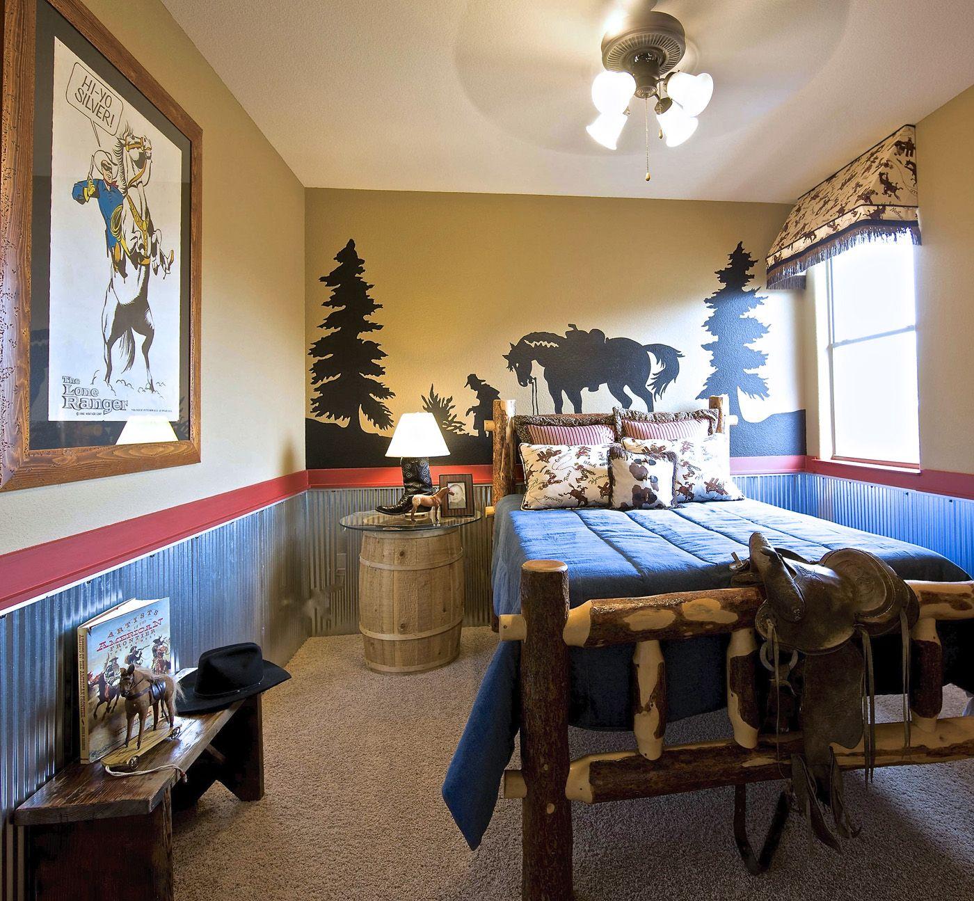 #Western Theme Bedroom