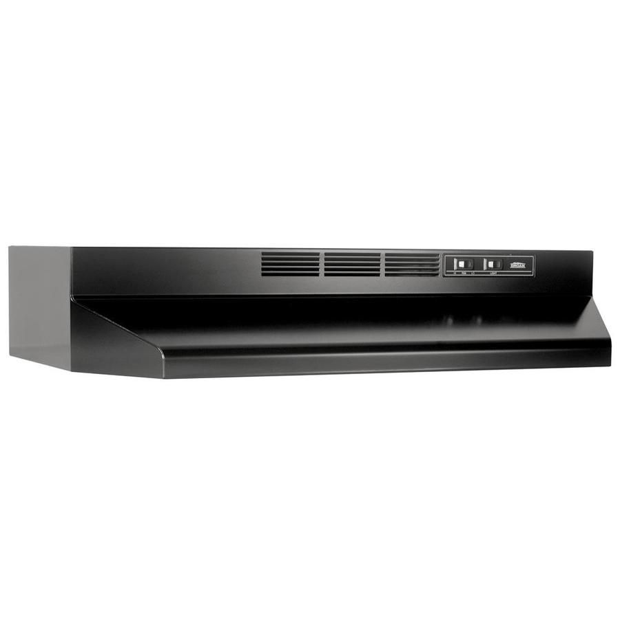 Broan 30 In Ductless Black Undercabinet Range Hood Common 30 Inch Actual 29 87 In At Lowes Com Broan Ducted Range Hood Under Cabinet Range Hoods