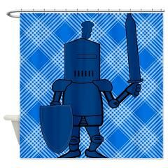 The Blue Knight Shower Curtain