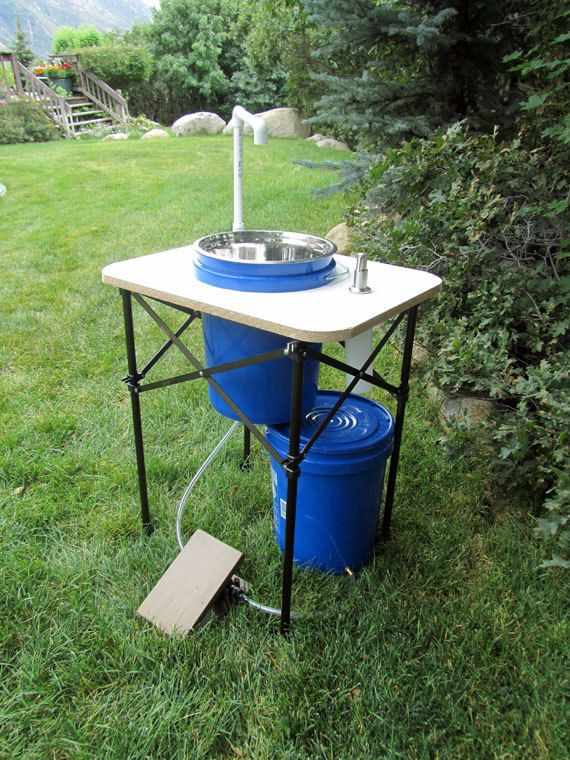 Deluxe Outdoor Sink With Running Water And By Deluxecamping 200 00 Outdoor Sinks Outdoor Sink