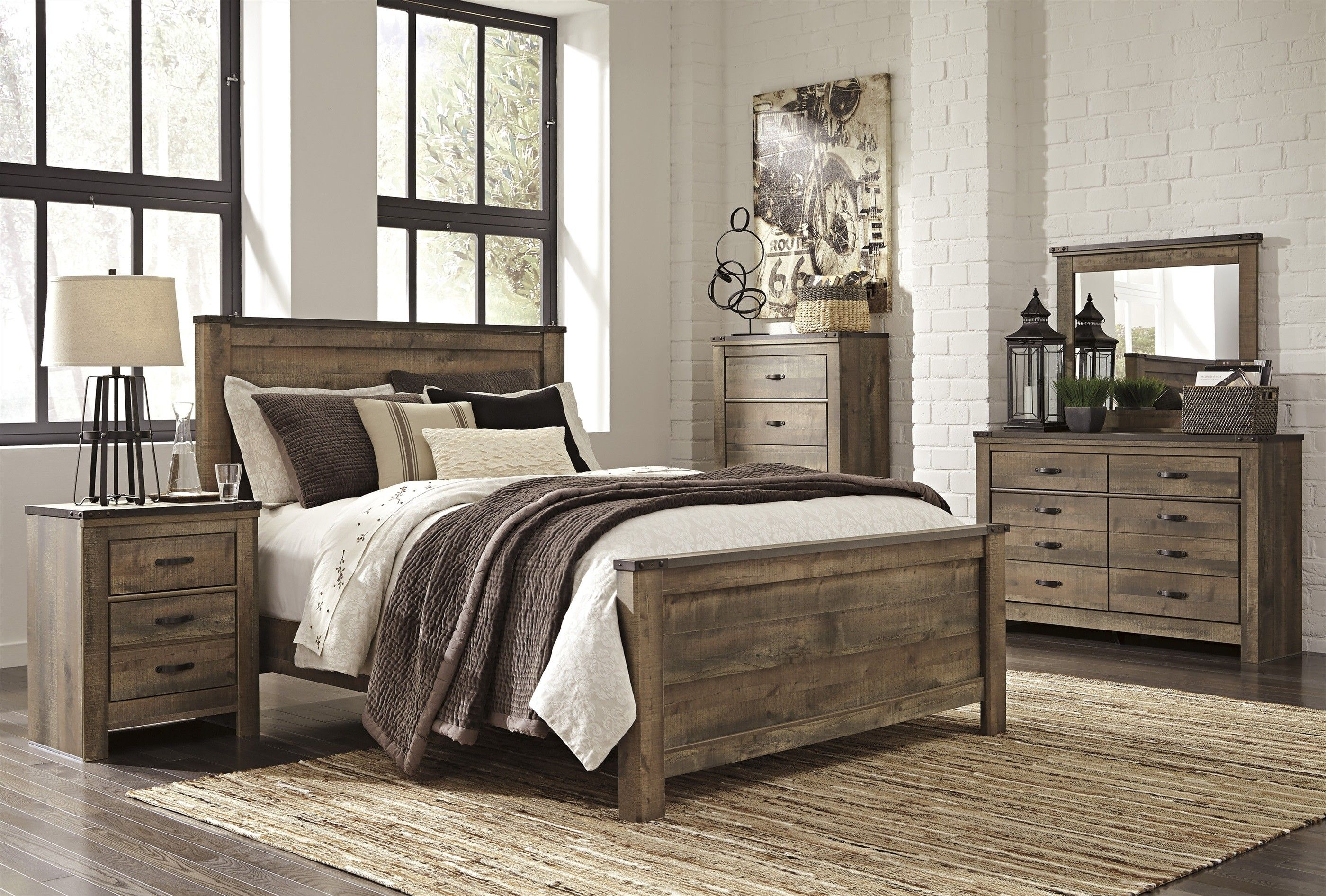 Rustic plank bedroom queen bedroom sets rustic king bedroom set farmhouse bedroom set