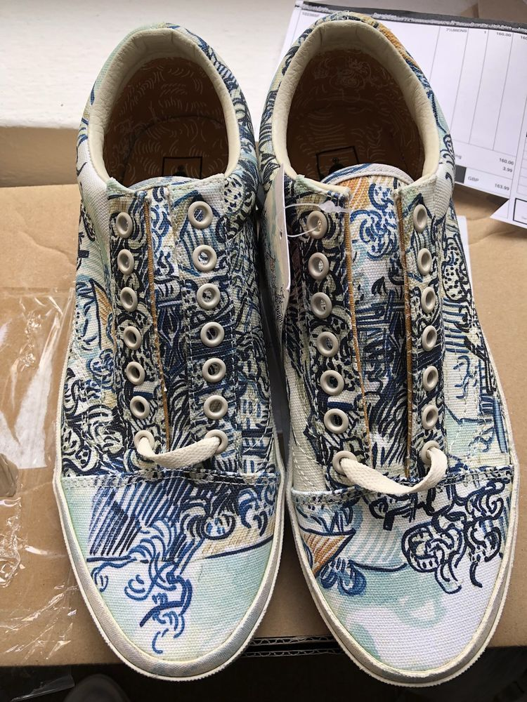 e8fe11424940 VANS X Vincent Van Gogh Old Skool! Vineyard   Turtledove! UK4.5!  VANS Find  great deals for VANS X Vincent Van Gogh Museum Skull Slip on We are  delighted ...