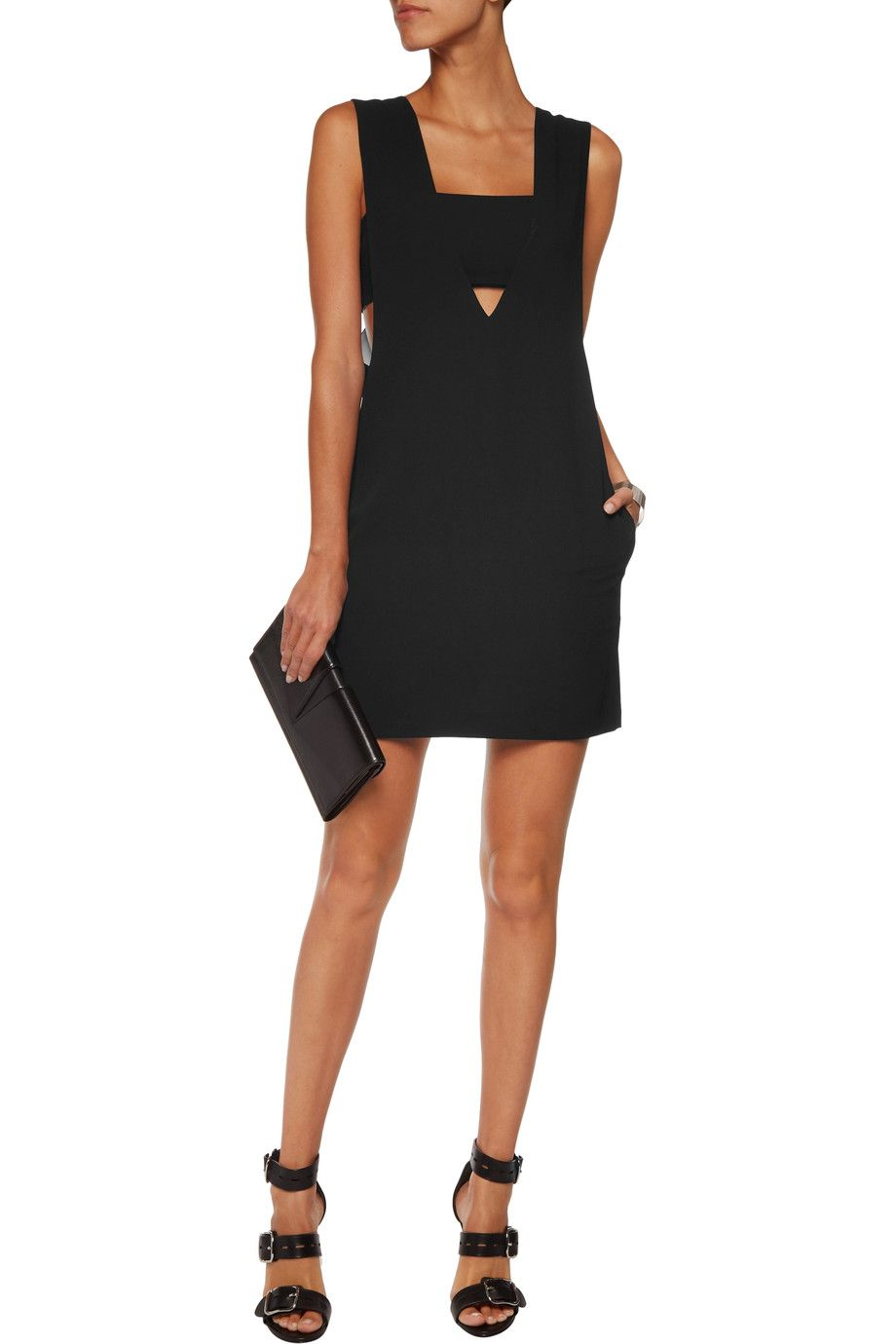 0f63498744 Shop on-sale T by Alexander Wang Cutout crepe mini dress. Browse other discount  designer Dresses & more on The Most Fashionable Fashion Outlet, THE OUTNET.