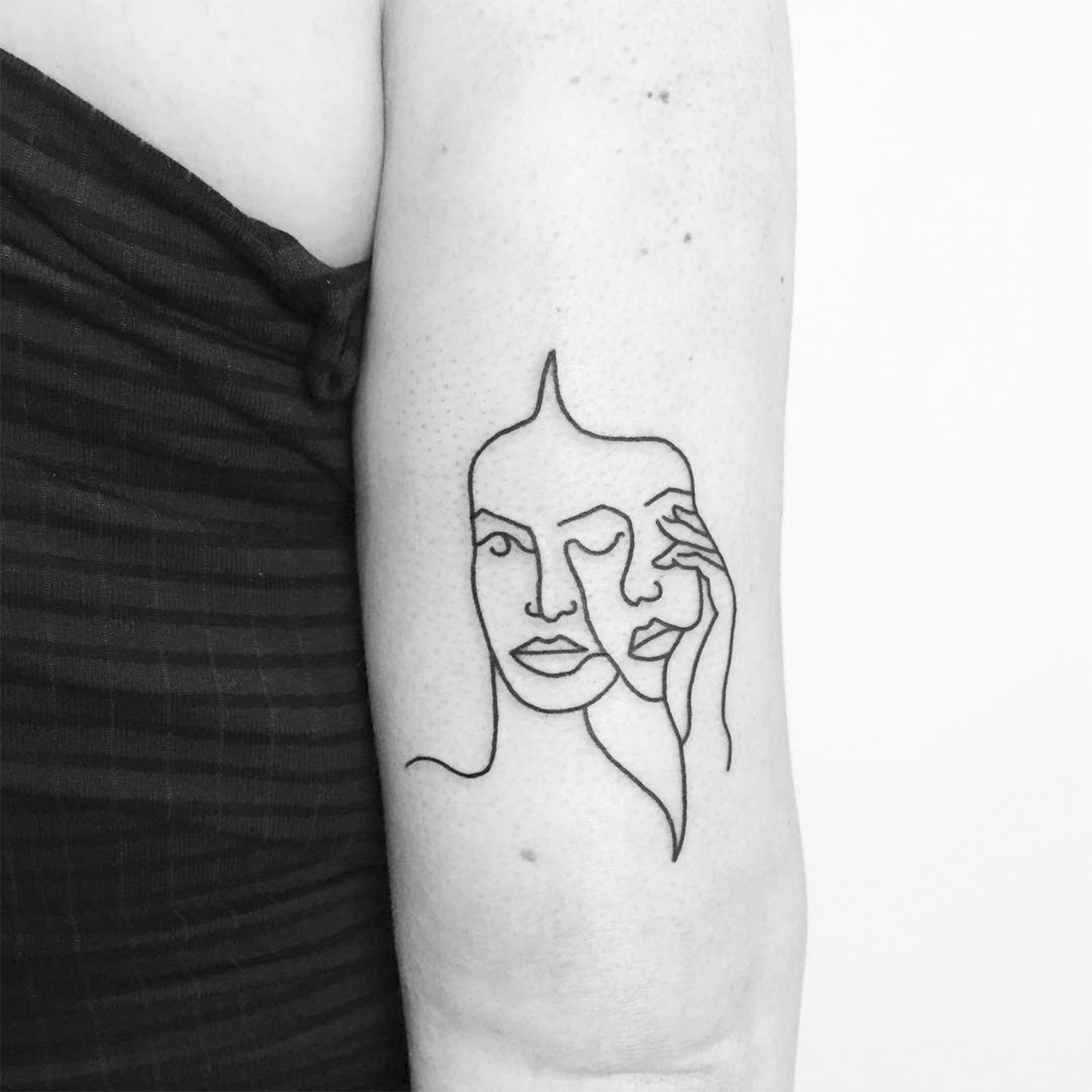 c86228b4cfe8c Strange and Erotic Minimalist Tattoos by Curt Montgomery | Tattoos ...