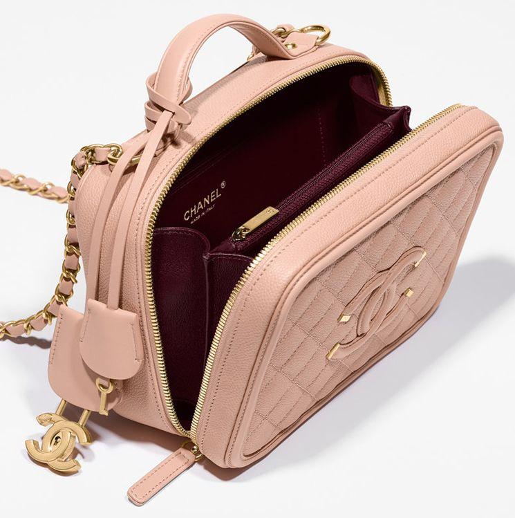 bb20bc839e3c Chanel CC Filigree Vanity Case Bag