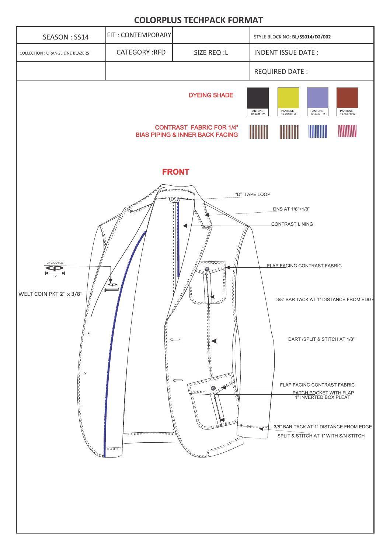 3dd70529d Casual blazer sampling tech pack Técnicas De Desenho