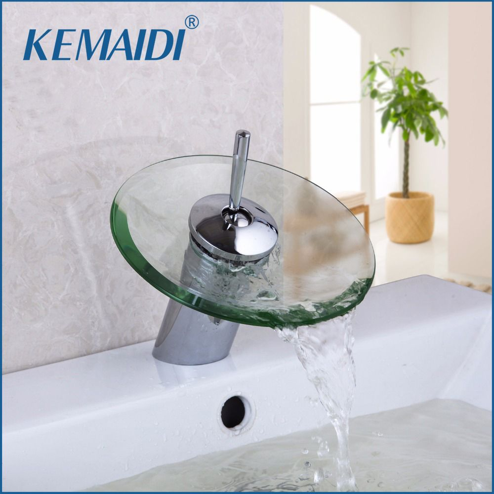 Free Shipping Buy Best KEMAIDI Bathroom Faucet Glass Waterfall Deck - Cheap bathroom fixtures online
