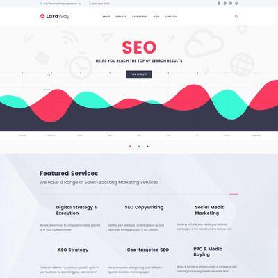 Laraway - SEO & Digital Marketing Agency Responsive WordPress Template Small Screenshot