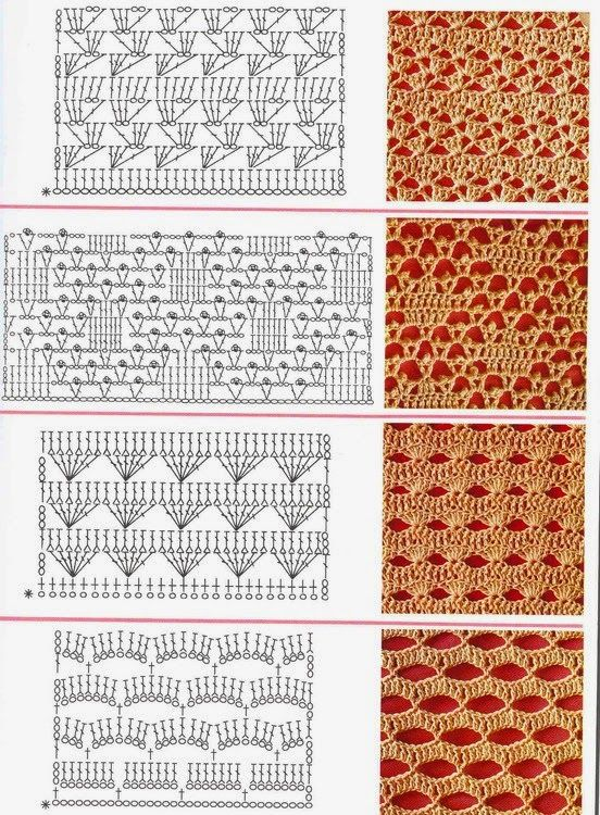 MES FAVORIS TRICOT-CROCHET: 150 points au crochet | puntos de ...