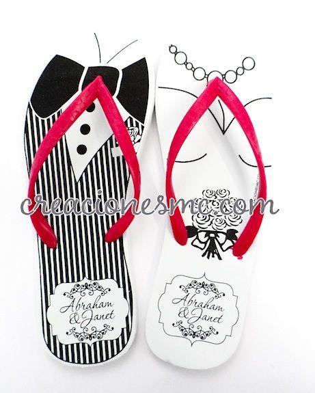 sandalias para boda, chanclas para eventos, sandalias rotuladas ...