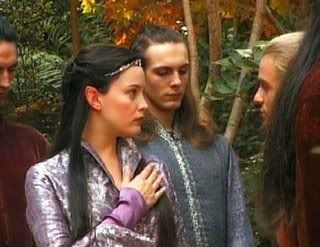 Deleted scene of Arwen and Legolas when the Fellowhship ...