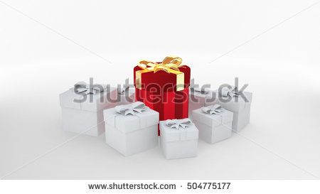 gift box special in Christmas day. 3D rendering