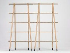 Freestanding double-sided beech bookcase STICK | Bookcase - Valsecchi 1918