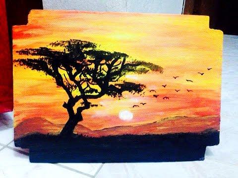 37 Acrilico Como Pintar Un Atardecer Youtube Pintura Al Oleo Paisajes Como Pintar Paisajes Tutoriales De Pintura En Acuarela