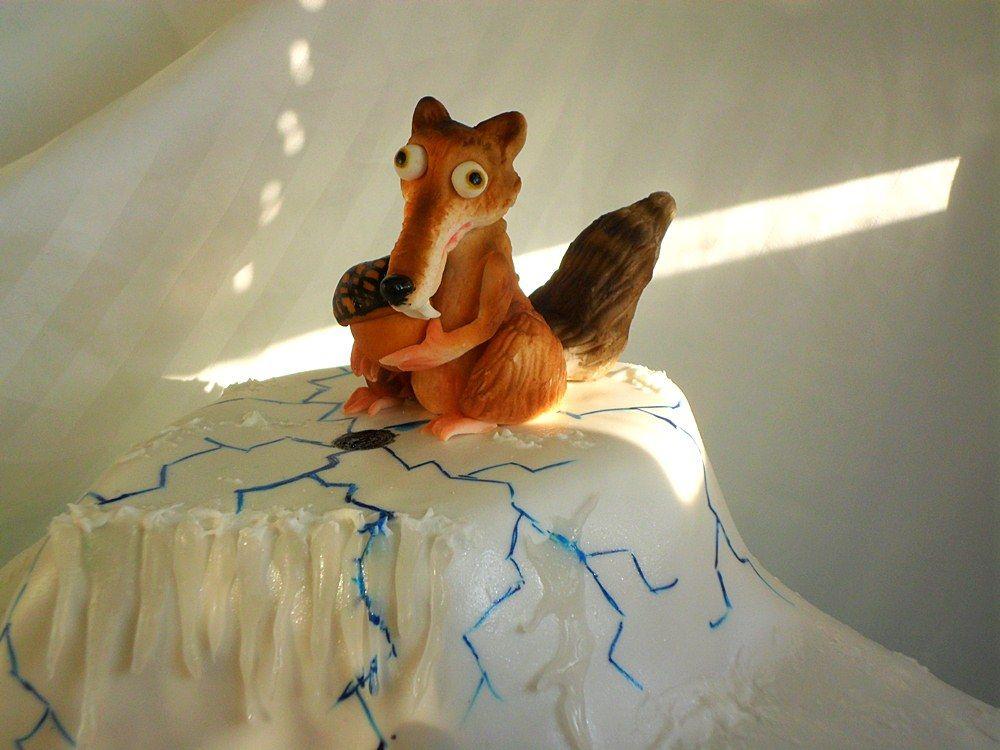 Ice Age Scrat Fondant Cake Topper Gumpaste Tutorials