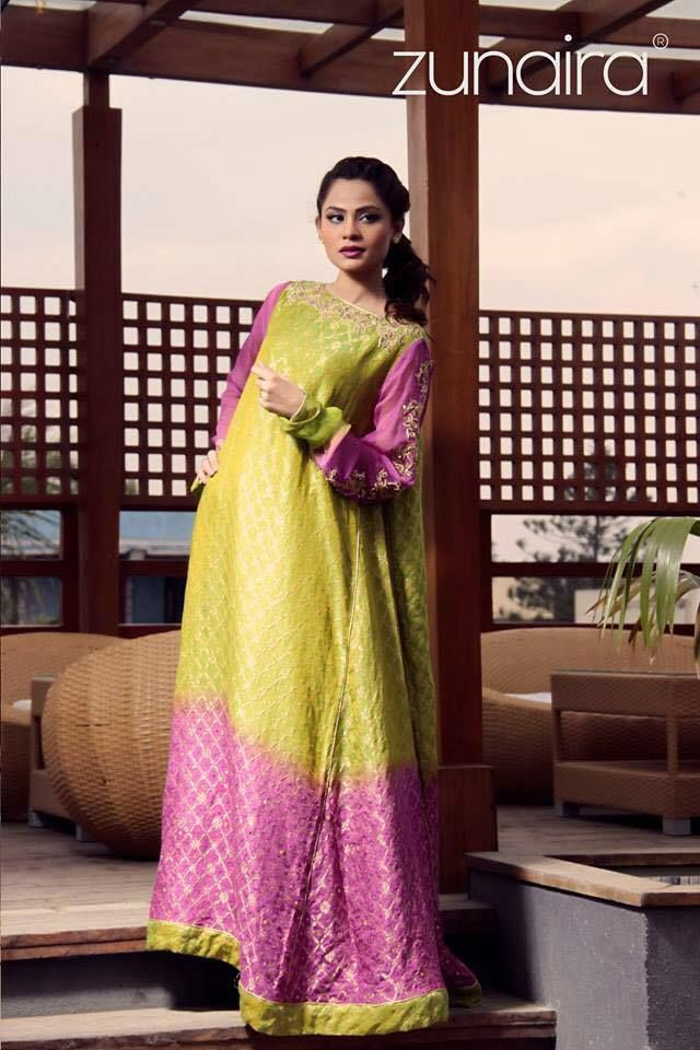fdff23ad66c Pakistani Party Wear Dresses by Zunaira Lounge Formal Dresses Collection  2015-16 for Women (