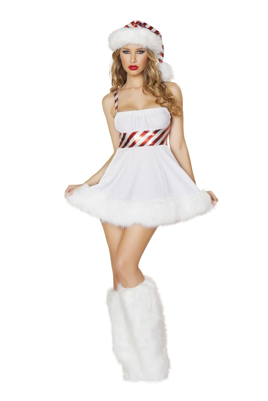 60354f891634 Sexy Roma White Christmas Holiday Frosty the Snowman Candy Cane Cutie Ice  Princess Queen Costume