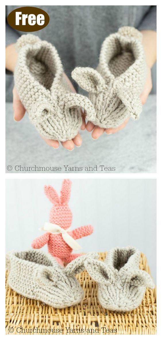Bunny Hop Thrummed Bunny Slippers Free Knitting Pattern ...