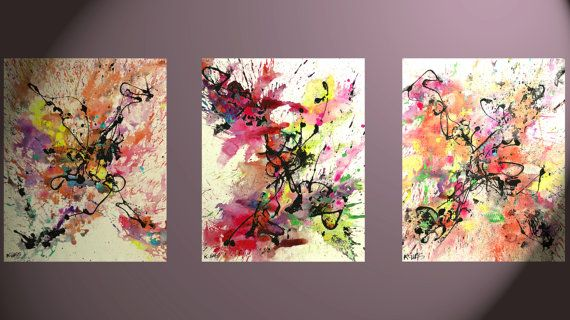 3  Larger 20x16 Abstract Expressive Painting  by Creative108