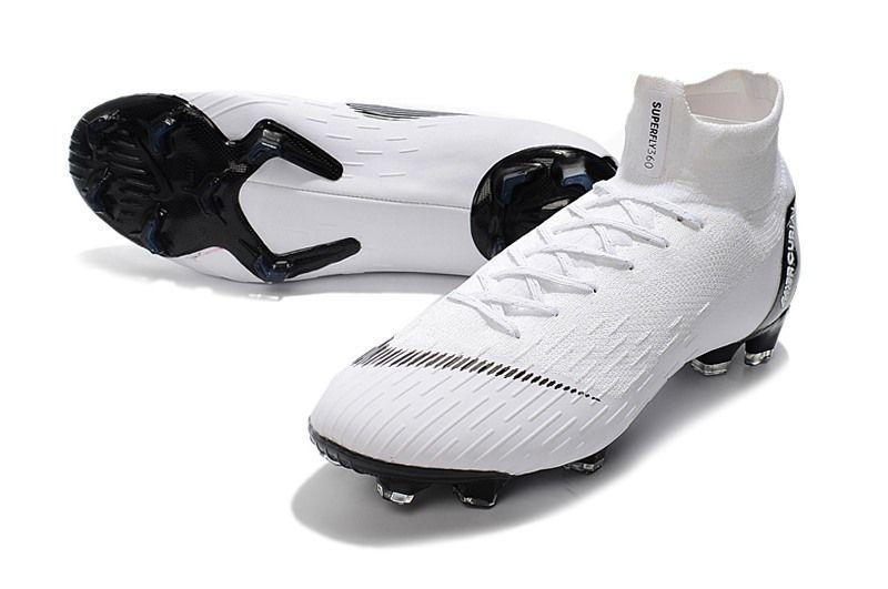 e9b30c3da Nike Mercurial Superfly VI Elite FG Botas de Futbol - Blanco Negro ...