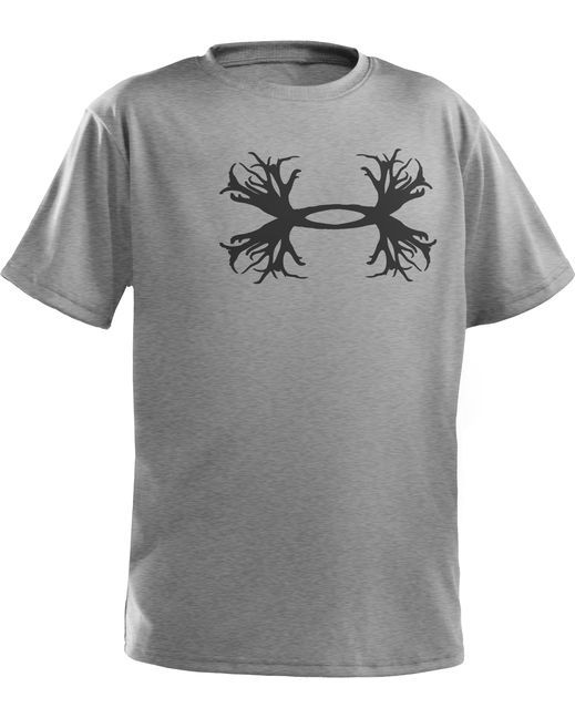 Under armour youth antler tee for Under armour brown t shirt