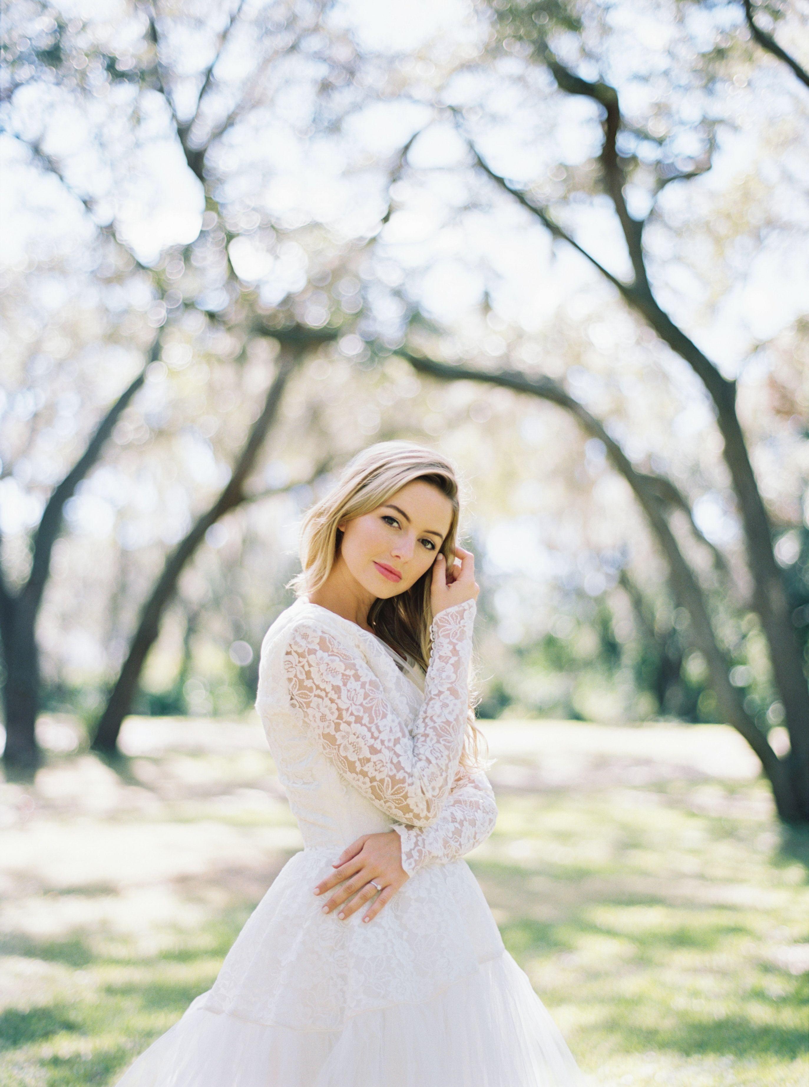 Long Sleeved Wedding Dress Fine Art Bridal Portrait Wedding