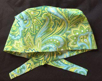 Birdies Traditional tie back pixie scrub hat. by AliKaps on Etsy