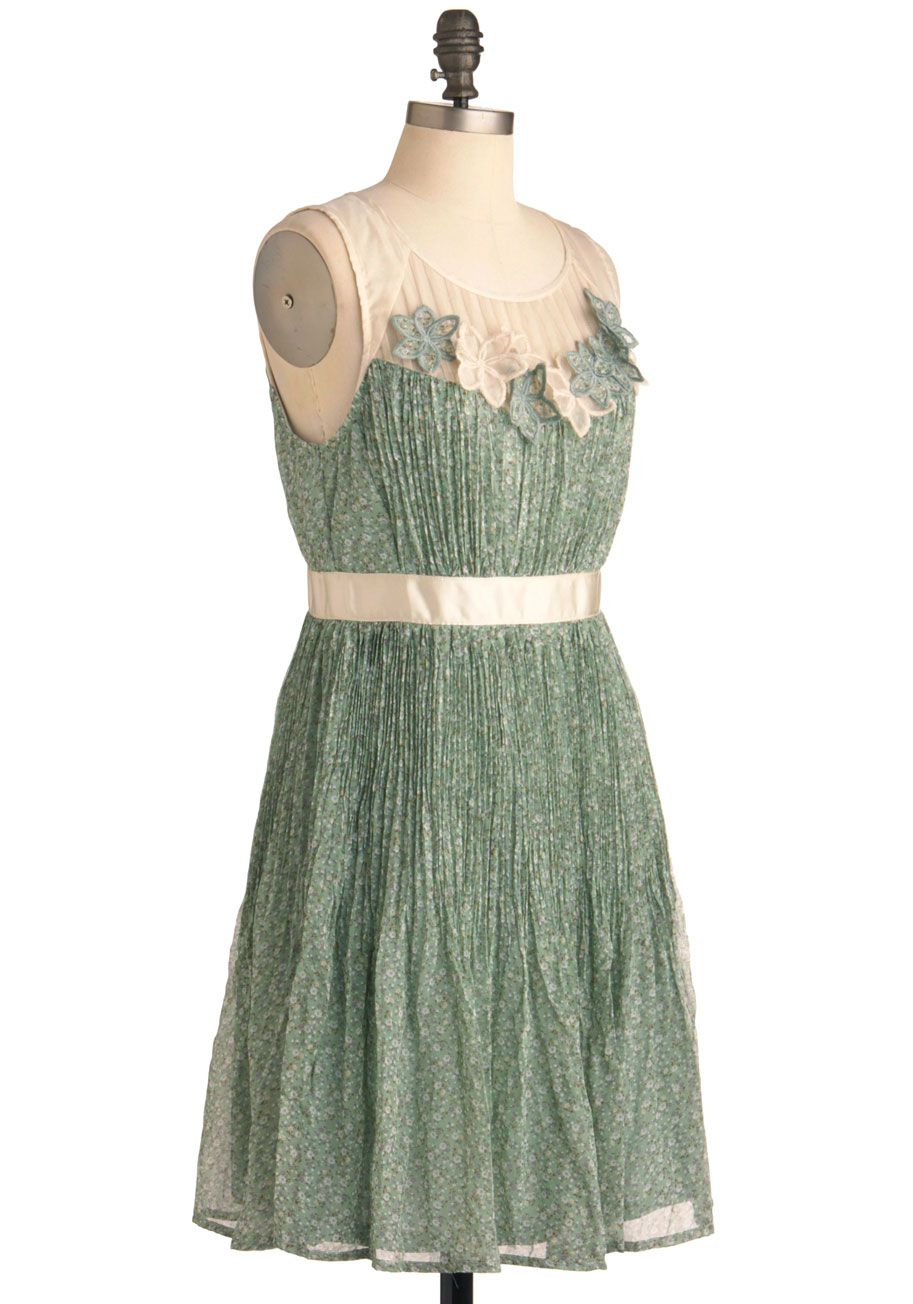 Too much cleavage wedding dress  Lush with Beauty Dress in Garden  Shops Retro vintage dresses and